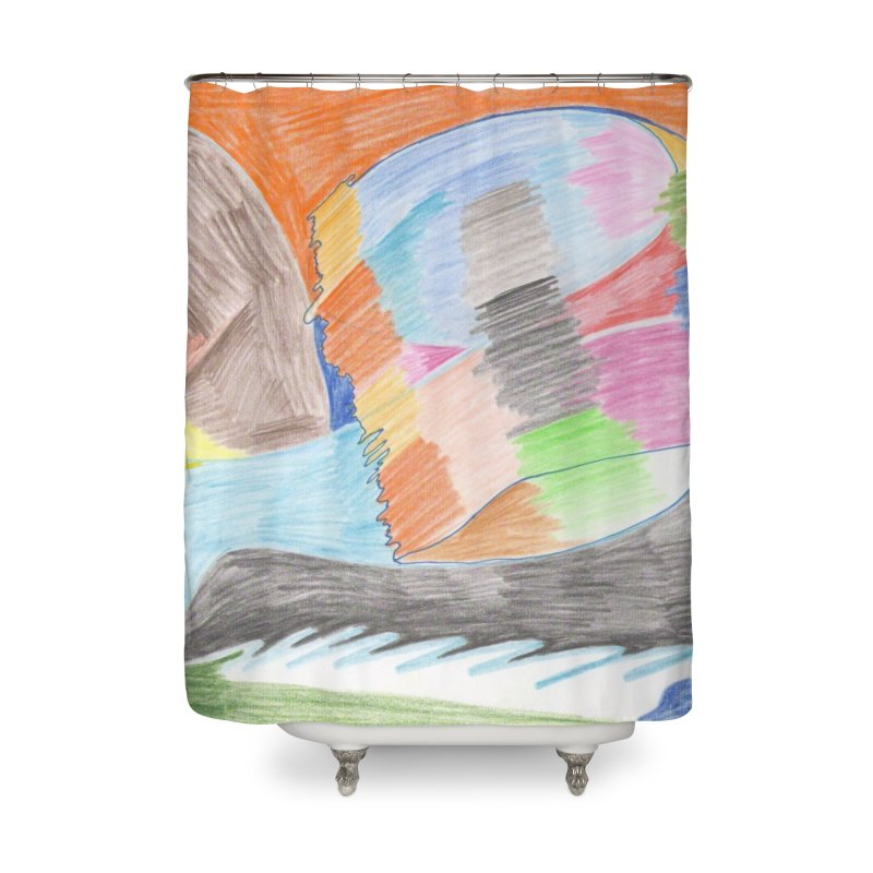 The River Of Life Home Shower Curtain by nagybarnabas's Artist Shop