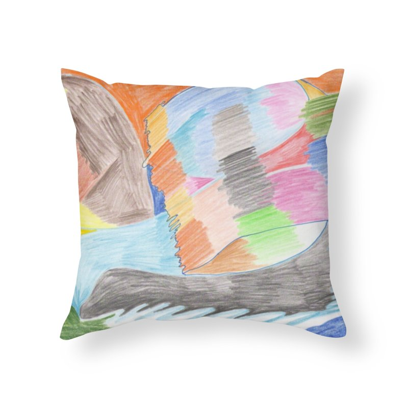 The River Of Life Home Throw Pillow by nagybarnabas's Artist Shop
