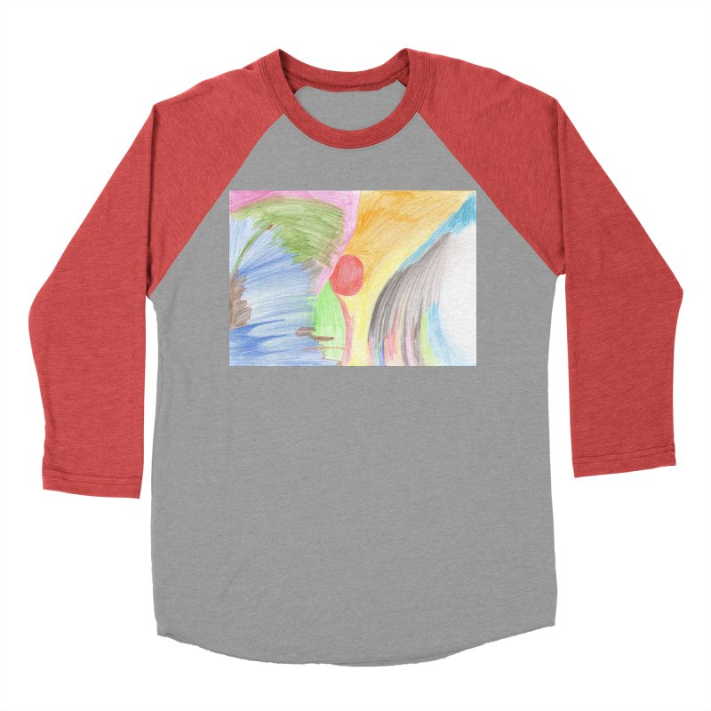 Breast-scape Women's Baseball Triblend Longsleeve T-Shirt by nagybarnabas's Artist Shop