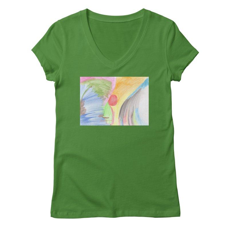 Breast-scape Women's Regular V-Neck by nagybarnabas's Artist Shop