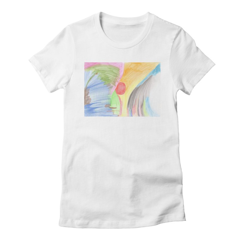 Breast-scape Women's Fitted T-Shirt by nagybarnabas's Artist Shop