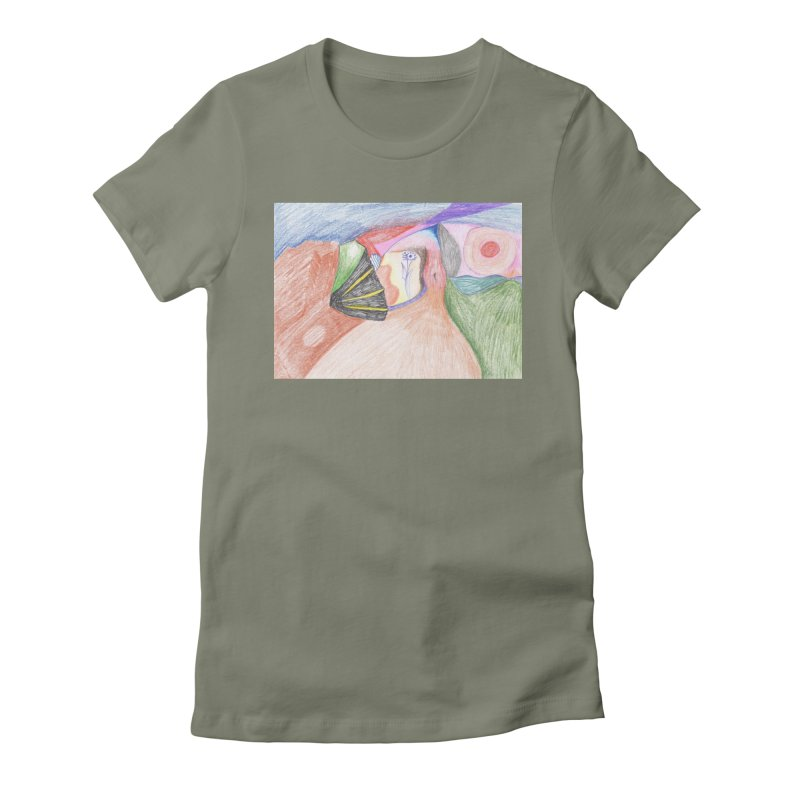 Naked Sunset Women's Fitted T-Shirt by nagybarnabas's Artist Shop