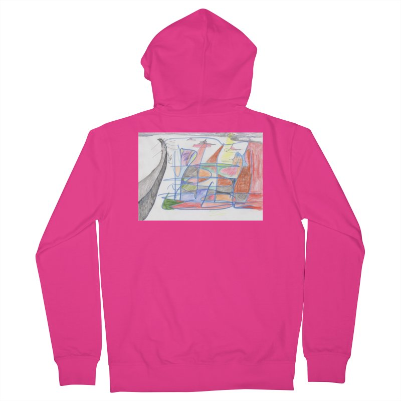 Fishing For Life Men's French Terry Zip-Up Hoody by nagybarnabas's Artist Shop