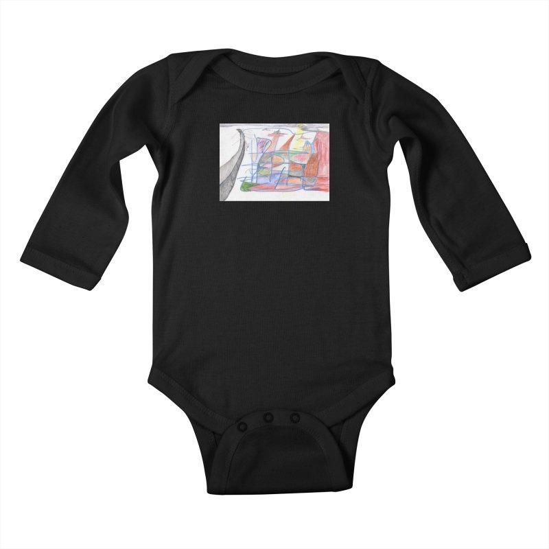 Fishing For Life Kids Baby Longsleeve Bodysuit by nagybarnabas's Artist Shop