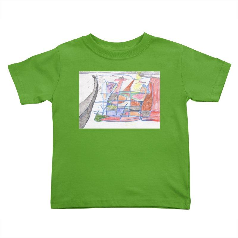 Fishing For Life Kids Toddler T-Shirt by nagybarnabas's Artist Shop