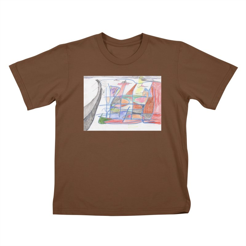 Fishing For Life Kids T-Shirt by nagybarnabas's Artist Shop