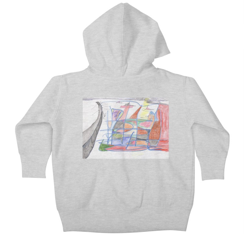 Fishing For Life Kids Baby Zip-Up Hoody by nagybarnabas's Artist Shop