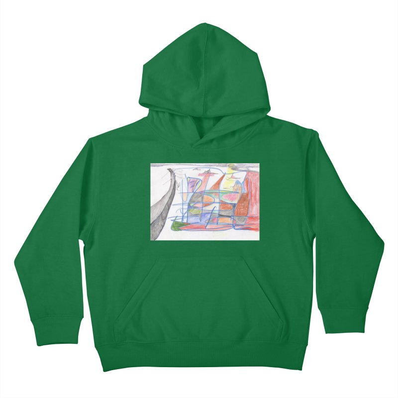 Fishing For Life Kids Pullover Hoody by nagybarnabas's Artist Shop