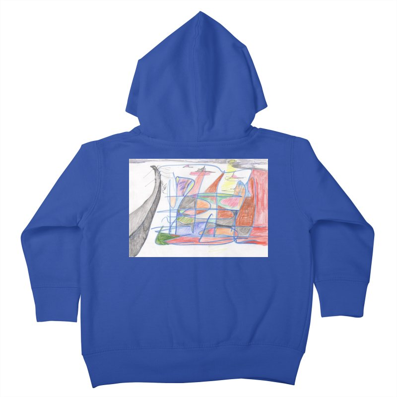Fishing For Life Kids Toddler Zip-Up Hoody by nagybarnabas's Artist Shop
