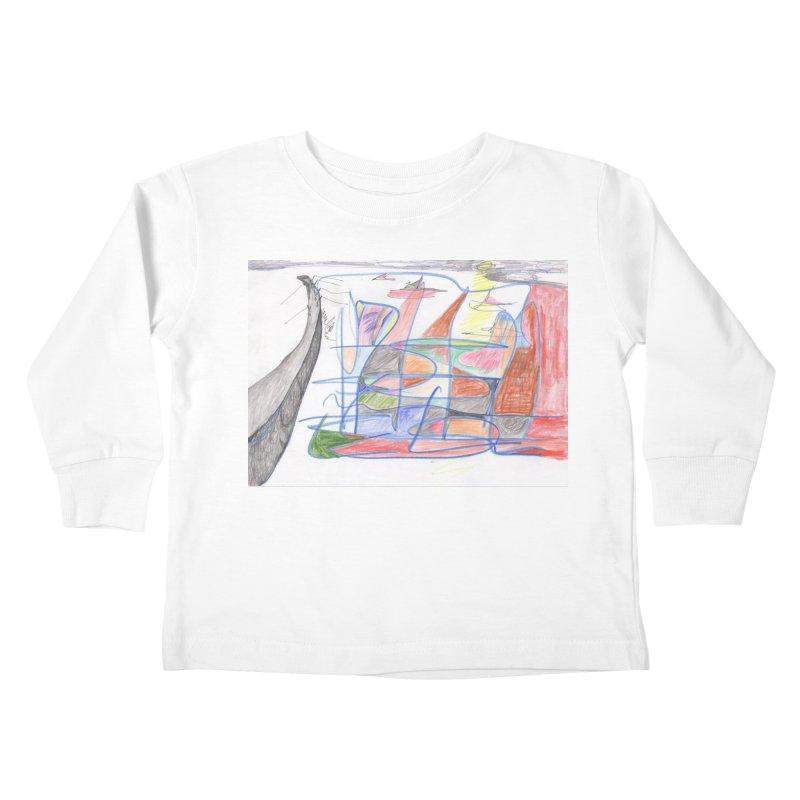 Fishing For Life Kids Toddler Longsleeve T-Shirt by nagybarnabas's Artist Shop