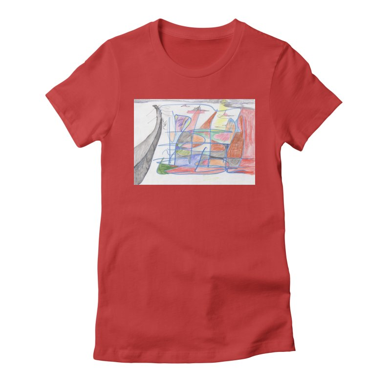 Fishing For Life Women's Fitted T-Shirt by nagybarnabas's Artist Shop