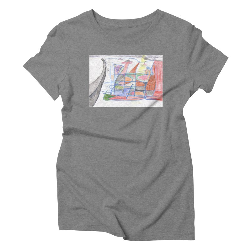 Fishing For Life Women's Triblend T-Shirt by nagybarnabas's Artist Shop