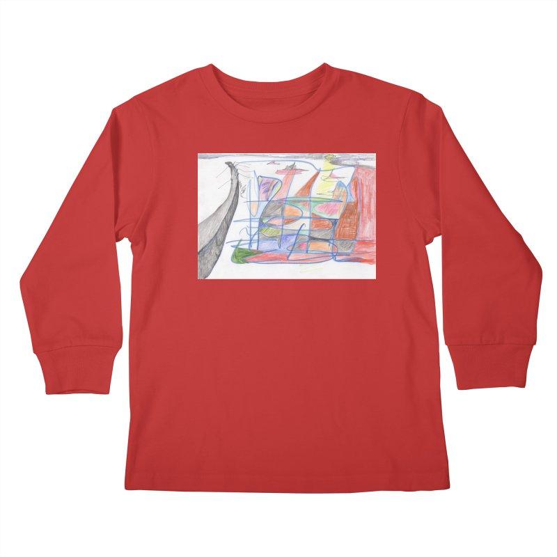 Fishing For Life Kids Longsleeve T-Shirt by nagybarnabas's Artist Shop