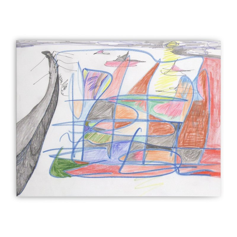 Fishing For Life Home Stretched Canvas by nagybarnabas's Artist Shop
