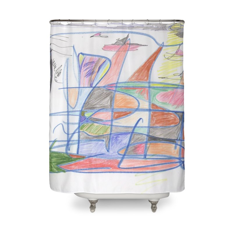Fishing For Life Home Shower Curtain by nagybarnabas's Artist Shop
