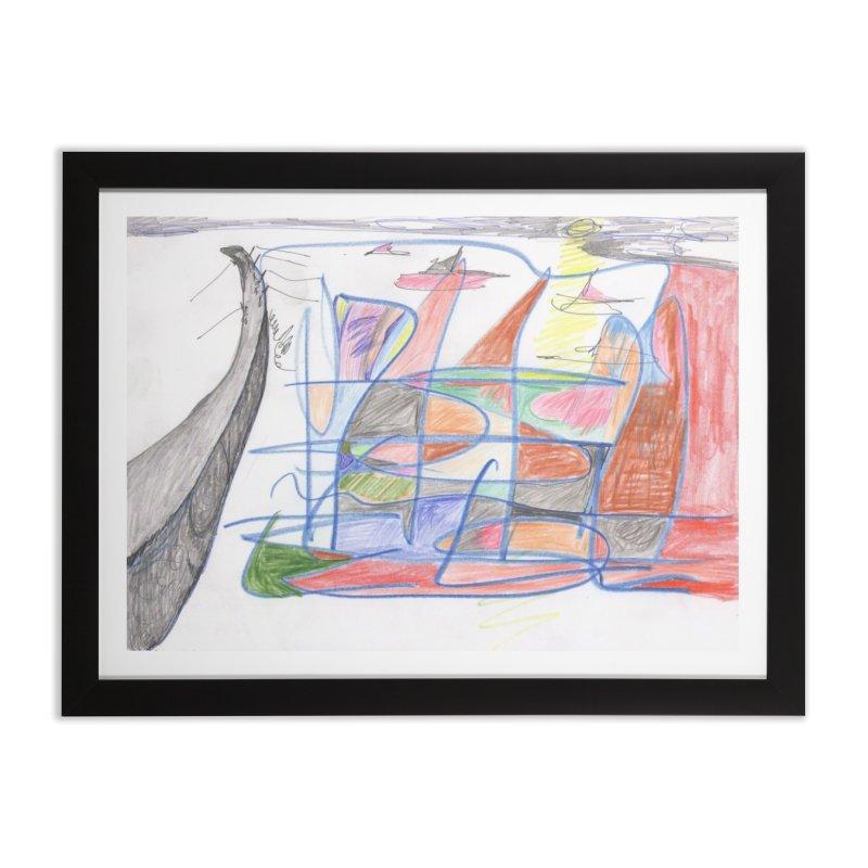 Fishing For Life Home Framed Fine Art Print by nagybarnabas's Artist Shop