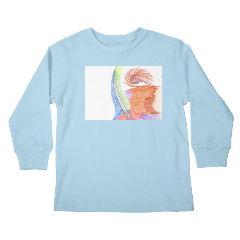 A Sword Is A Must Kids Longsleeve T-Shirt by nagybarnabas's Artist Shop