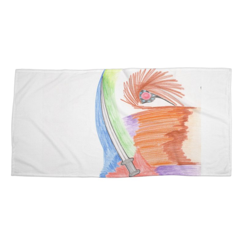 A Sword Is A Must Accessories Beach Towel by nagybarnabas's Artist Shop