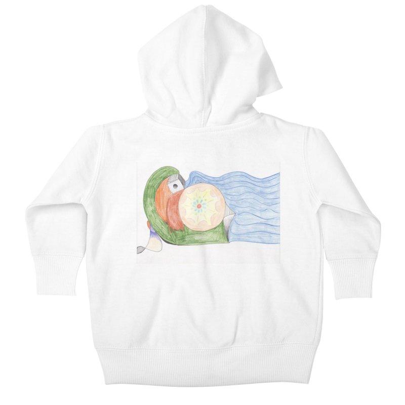 Brain Washing Machine Kids Baby Zip-Up Hoody by nagybarnabas's Artist Shop