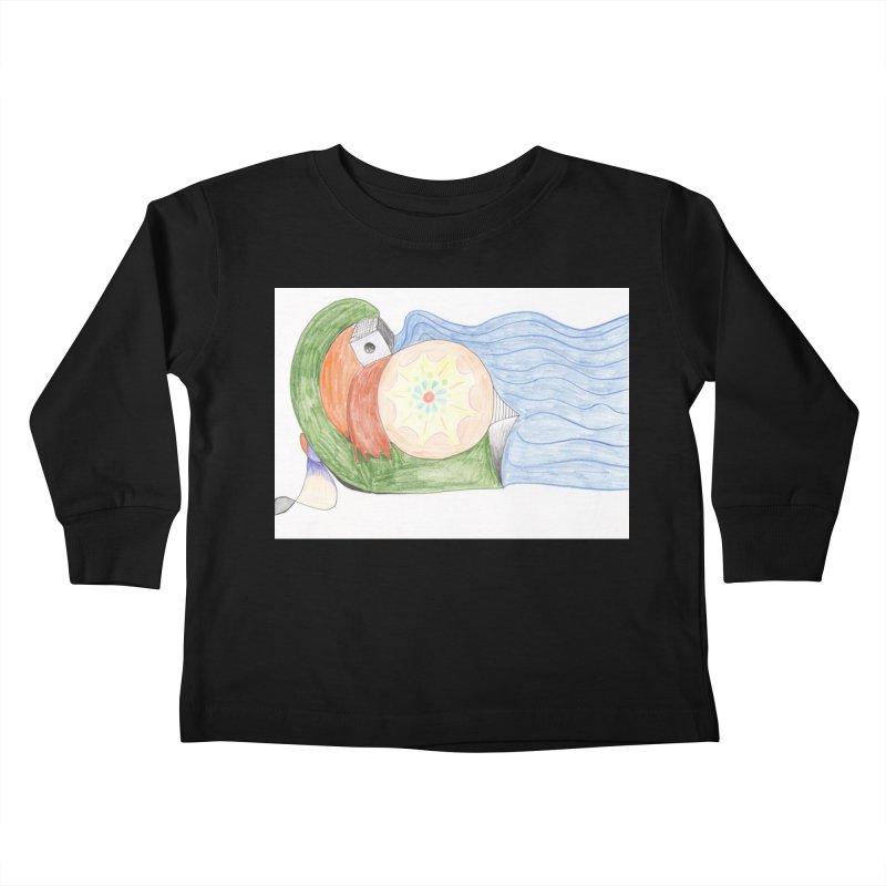 Brain Washing Machine Kids Toddler Longsleeve T-Shirt by nagybarnabas's Artist Shop