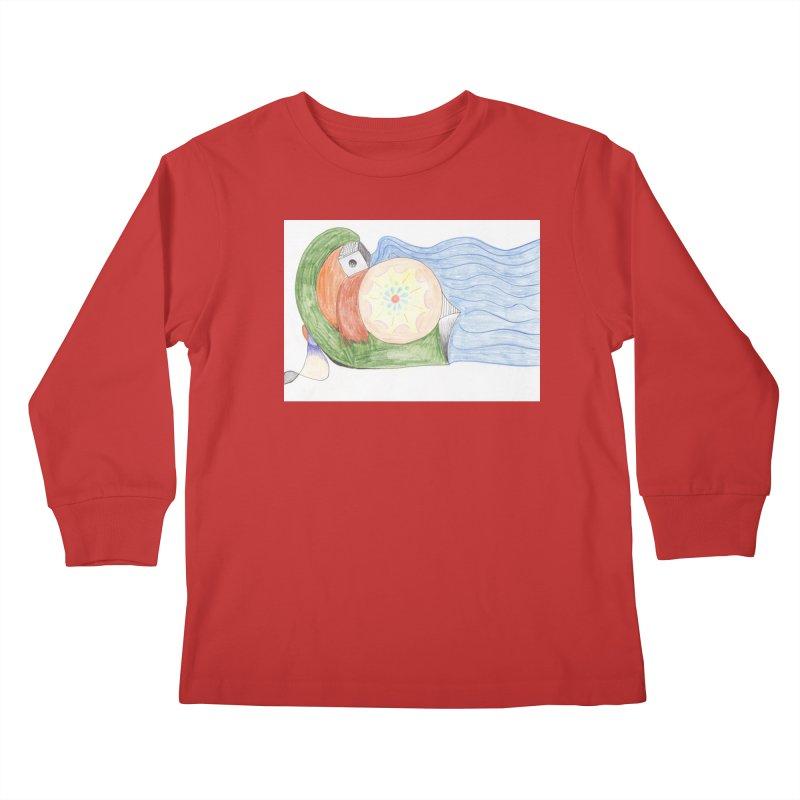 Brain Washing Machine Kids Longsleeve T-Shirt by nagybarnabas's Artist Shop