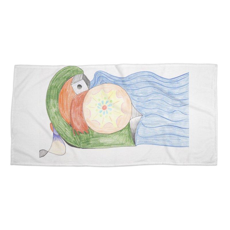 Brain Washing Machine Accessories Beach Towel by nagybarnabas's Artist Shop