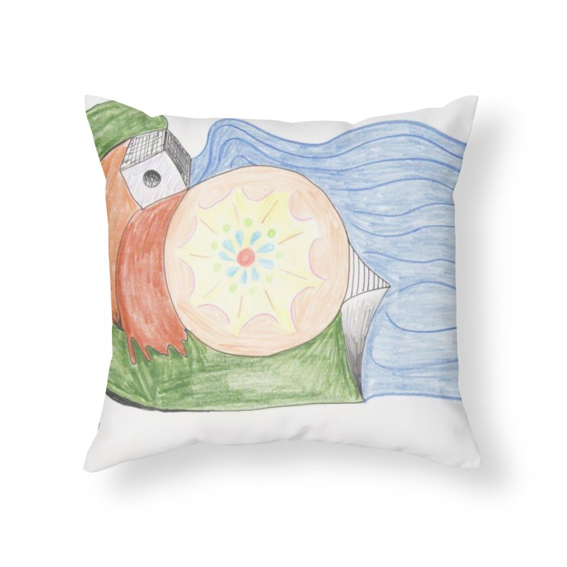 Brain Washing Machine Home Throw Pillow by nagybarnabas's Artist Shop
