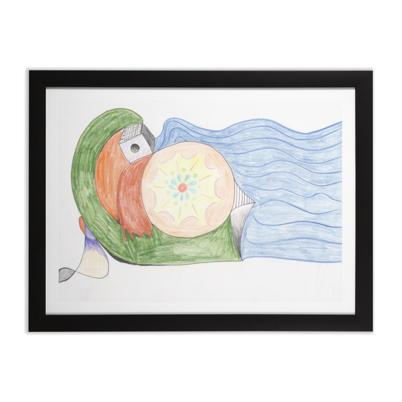 Brain Washing Machine Home Framed Fine Art Print by nagybarnabas's Artist Shop