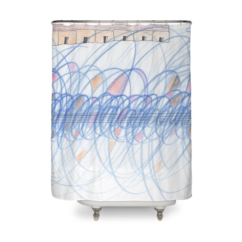 Electromagnetic Field Home Shower Curtain by nagybarnabas's Artist Shop
