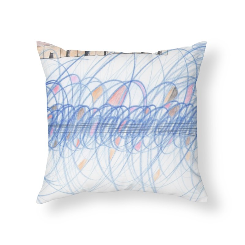 Electromagnetic Field Home Throw Pillow by nagybarnabas's Artist Shop