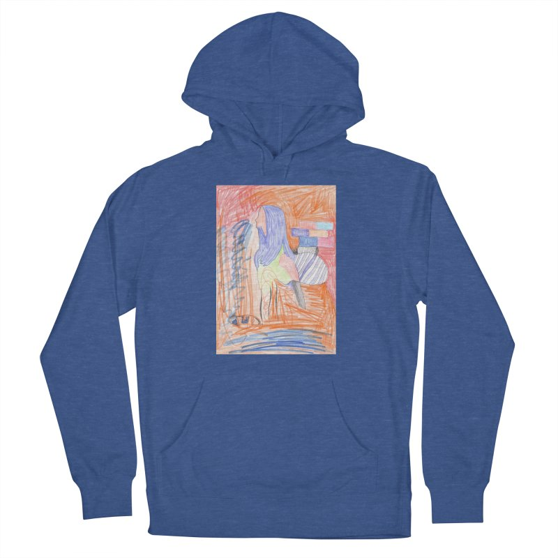The Golden Hair Woman Men's French Terry Pullover Hoody by nagybarnabas's Artist Shop
