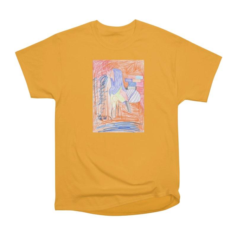 The Golden Hair Woman Men's Heavyweight T-Shirt by nagybarnabas's Artist Shop