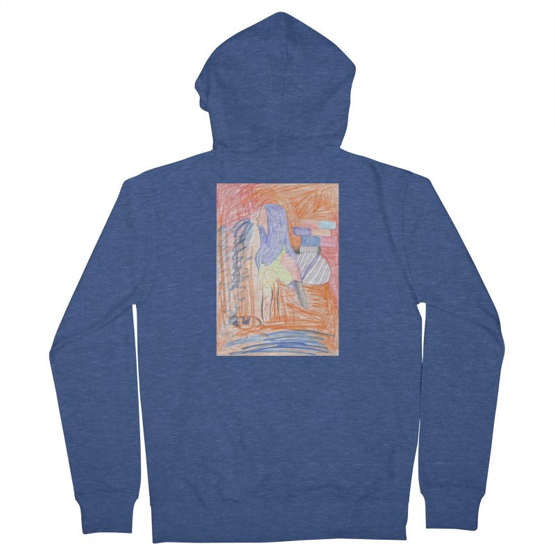The Golden Hair Woman Men's French Terry Zip-Up Hoody by nagybarnabas's Artist Shop