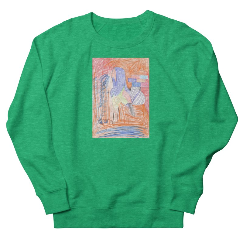 The Golden Hair Woman Women's French Terry Sweatshirt by nagybarnabas's Artist Shop