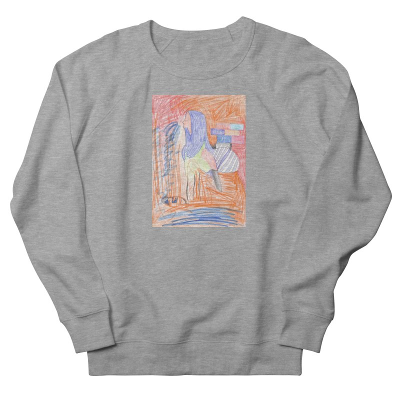 The Golden Hair Woman Men's French Terry Sweatshirt by nagybarnabas's Artist Shop