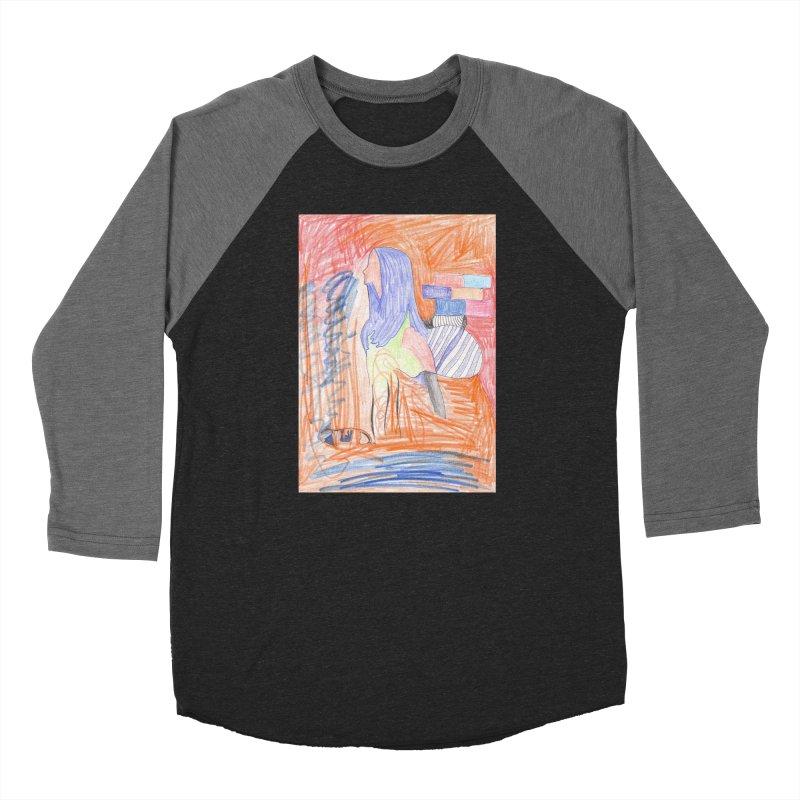 The Golden Hair Woman Men's Baseball Triblend Longsleeve T-Shirt by nagybarnabas's Artist Shop