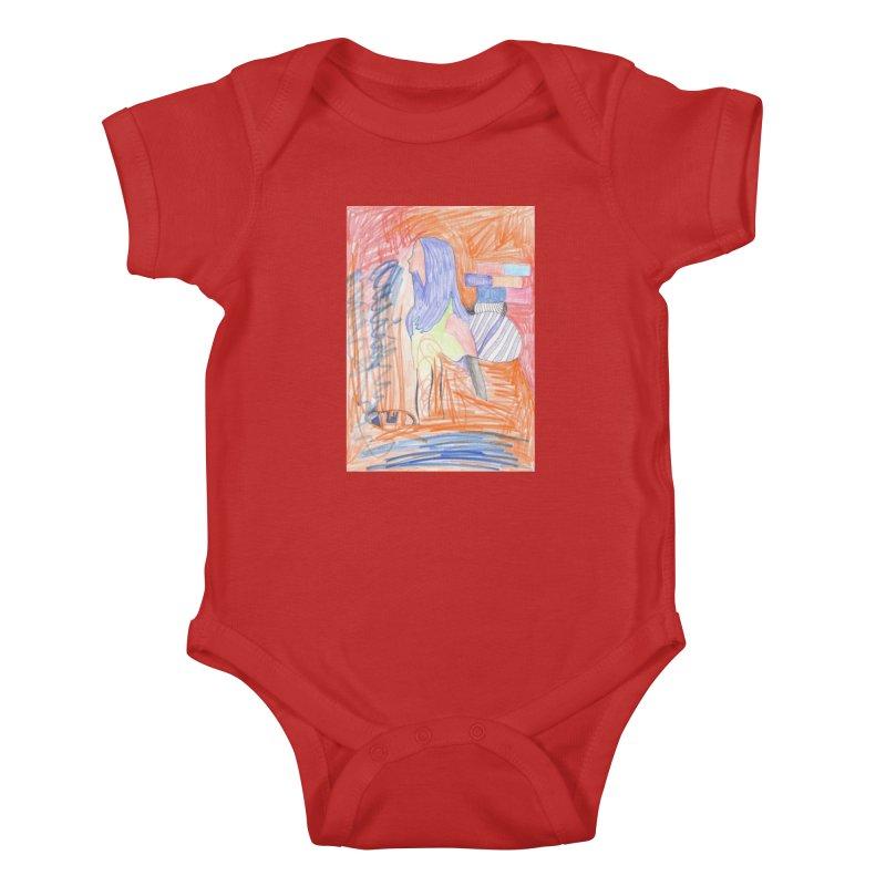 The Golden Hair Woman Kids Baby Bodysuit by nagybarnabas's Artist Shop