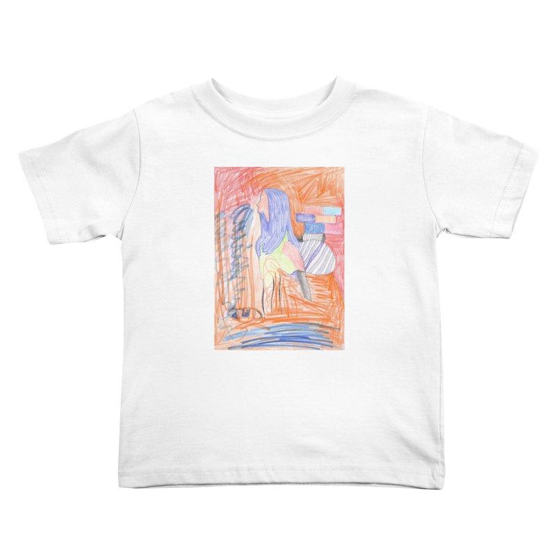 The Golden Hair Woman Kids Toddler T-Shirt by nagybarnabas's Artist Shop