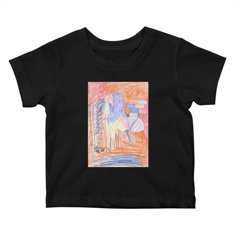 The Golden Hair Woman Kids Baby T-Shirt by nagybarnabas's Artist Shop
