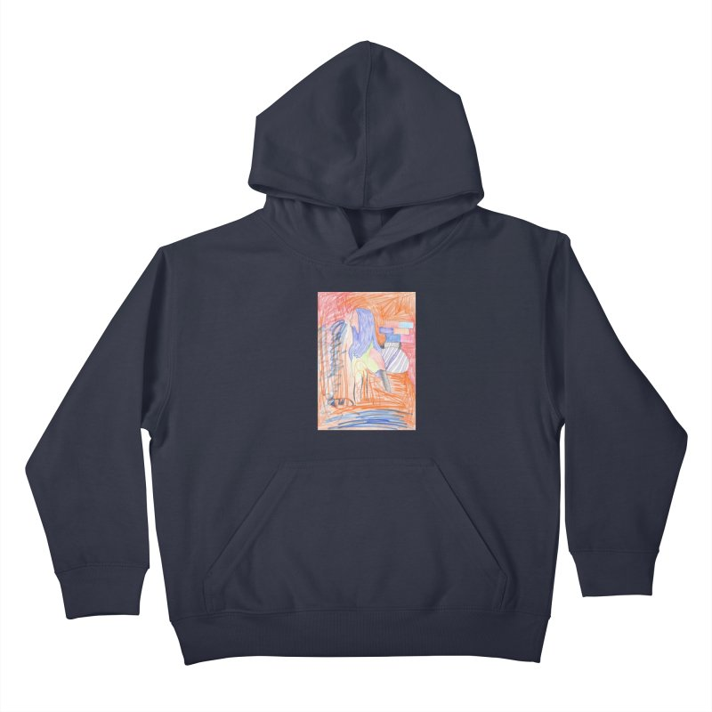 The Golden Hair Woman Kids Pullover Hoody by nagybarnabas's Artist Shop