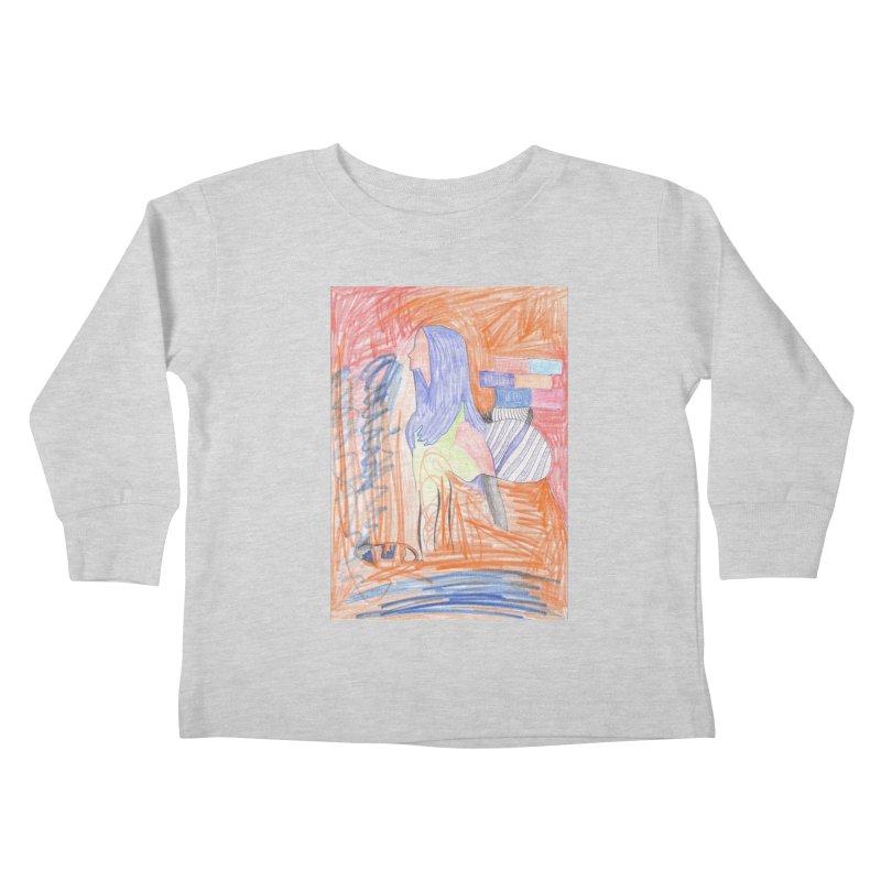 The Golden Hair Woman Kids Toddler Longsleeve T-Shirt by nagybarnabas's Artist Shop