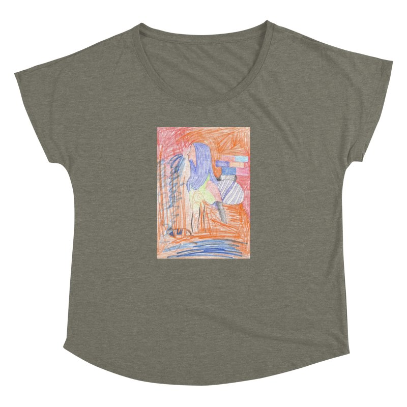 The Golden Hair Woman Women's Dolman Scoop Neck by nagybarnabas's Artist Shop