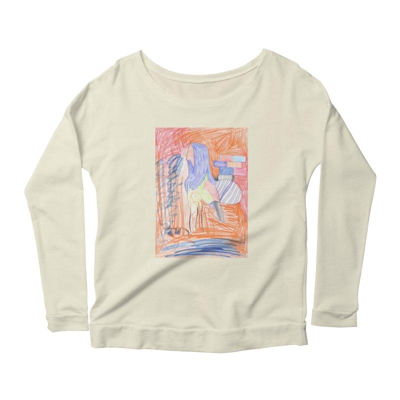 The Golden Hair Woman Women's Scoop Neck Longsleeve T-Shirt by nagybarnabas's Artist Shop