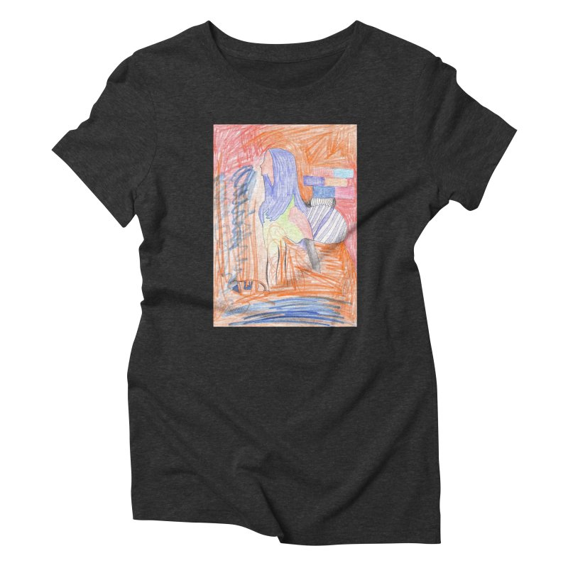 The Golden Hair Woman Women's Triblend T-Shirt by nagybarnabas's Artist Shop