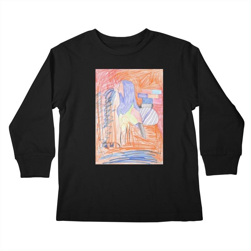 The Golden Hair Woman Kids Longsleeve T-Shirt by nagybarnabas's Artist Shop