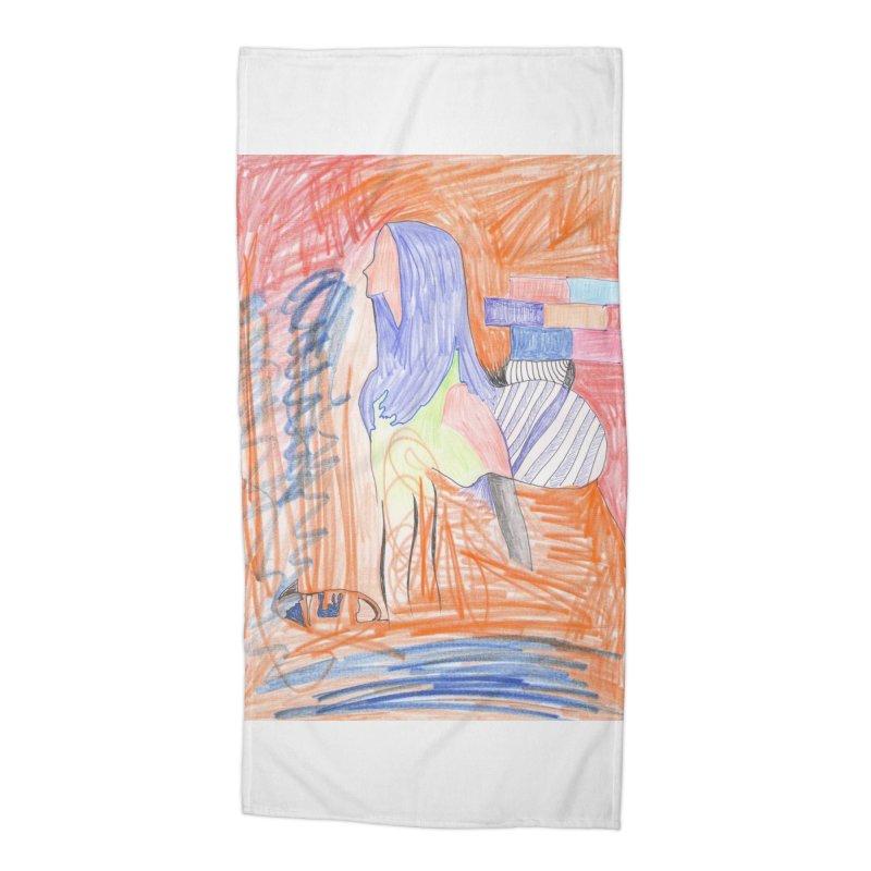 The Golden Hair Woman Accessories Beach Towel by nagybarnabas's Artist Shop