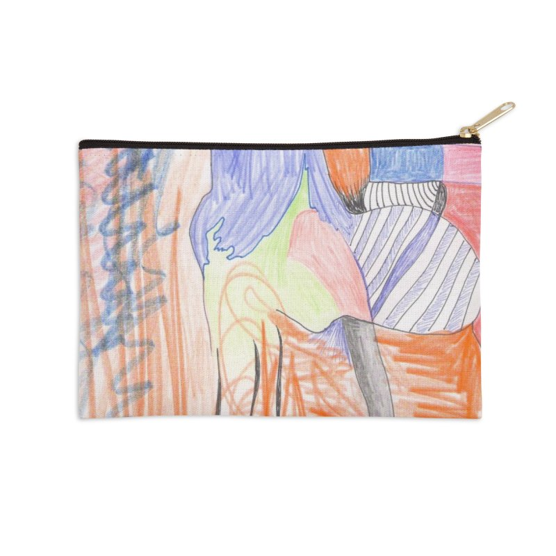 The Golden Hair Woman Accessories Zip Pouch by nagybarnabas's Artist Shop