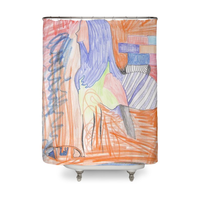 The Golden Hair Woman Home Shower Curtain by nagybarnabas's Artist Shop