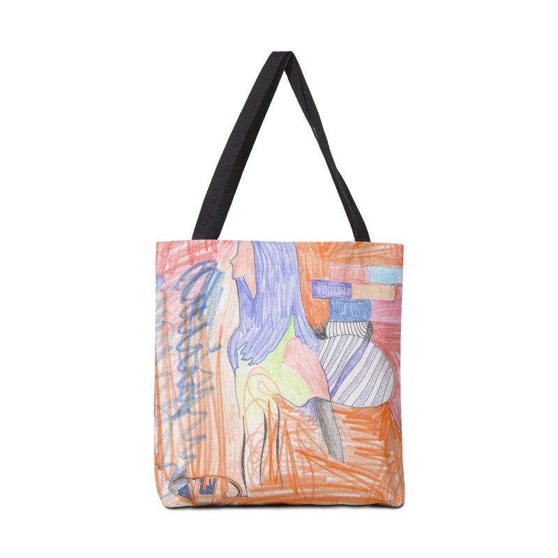 The Golden Hair Woman Accessories Bag by nagybarnabas's Artist Shop
