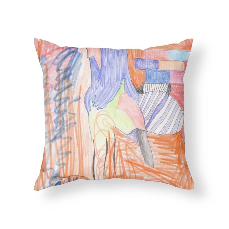 The Golden Hair Woman Home Throw Pillow by nagybarnabas's Artist Shop